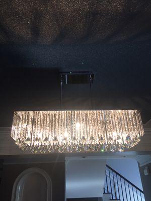 Chrome Finish 10 Light Rectangular Chandelier for Sale in Atlanta, GA