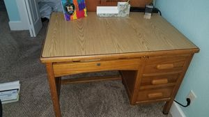 Solid Wood Teachers Desk and Leather office chair for Sale in Santa Rosa Beach, FL
