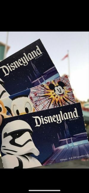 I need 3 disneyland tickets !!!! for Sale in Whittier, CA