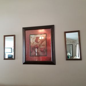 3pc wall art including 2 mirror for Sale in Powder Springs, GA