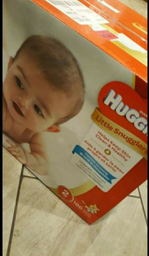 Huggies diapers Size 2 👶 (Box New Unopened) 186 Count ❗ Caja nueva 186 pañales Size 2❗ for Sale in Vallejo, CA