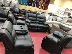 Furniture living room sofa loveseat and the chair recliner for Sale in Garland, TX