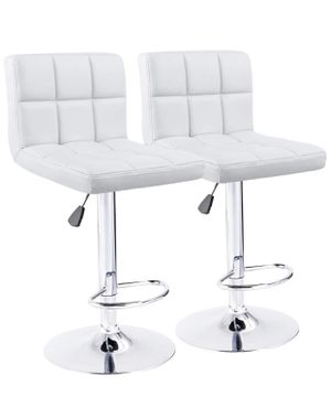 (2) White Bar Stools for Sale in Southfield, MI