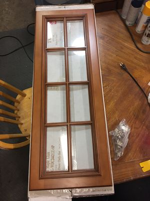 New titan maple glaze glass door for cabinet for Sale in Haltom City, TX