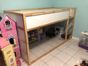 IKEA loft reversible twin bed (wooden) for Sale in Wellington, FL