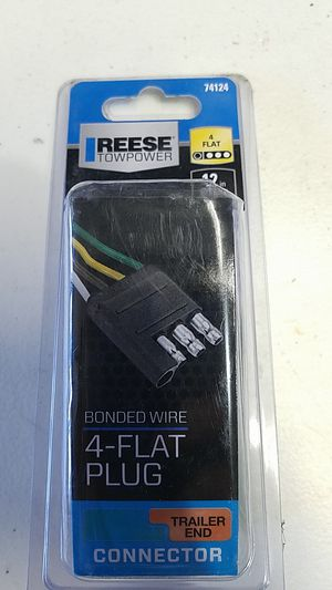 """Reese Towpower 74124 12"""" 4-Way Flat Trailer End Connector - Black for Sale in Fairfield, CA"""