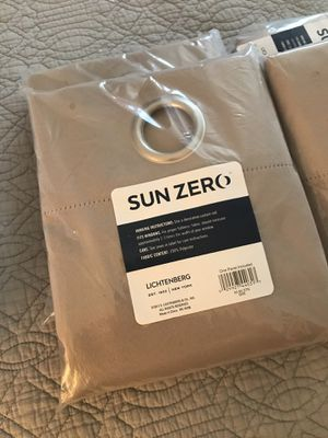 Four Sun Zero Curtain Panels 40x84 with Grommet Top for Sale in MARTINS ADD, MD