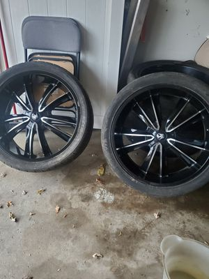 24inch Black rims for Sale in Lansing, IL