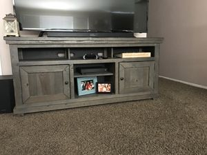 Gray TV Stand for Sale in Santa Clarita, CA