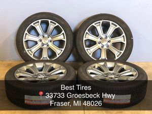 """22"""" Chevy gmc Cadillac wheels and tires 285-45-22 arroyo brand new set Package deal 1399.00 only Best Tires 📍33733 Groesbeck Hwy Fraser, MI 48 for Sale in Sterling Heights, MI"""