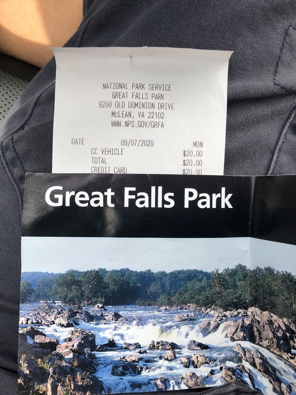 Great falls park ticket 9/7-9/13 unlimited entry