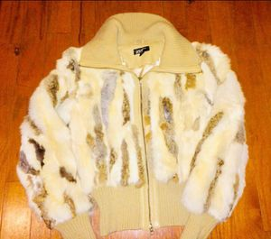 Warm Pure Leather Rabbit Fur Coat Jacket for Sale for sale  Roswell, GA