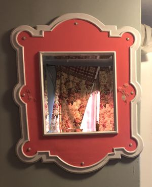 Wooden hand painted mirror for Sale in Silver Spring, MD