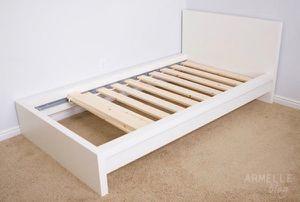 IKEA Twin White Malm Bed for Sale in San Bruno, CA