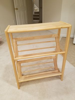 Wooden shoe rack/bookcase for Sale in Fairfax Station, VA