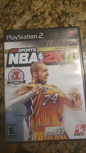 Ps2 2k10 tenth anniversary kobe edition for Sale in Olney, MD