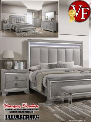 **BEST GIFT** KING BEDROOM SET BED FRAME+NIGHTSTAND (mattress not included) $748 for Sale in Phillips Ranch, CA