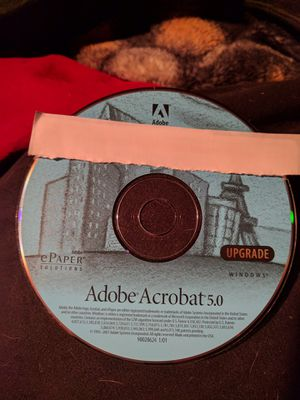 Adobe Acrobat 5.0 with key no box for Sale in Hauppauge, NY