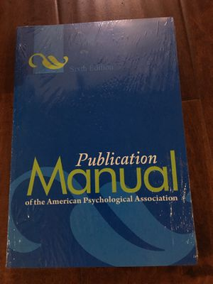 Publication Manual of American Psychological Association 6th Ed 9781433805615 for Sale in Walnut, CA