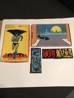 Vintage 1966 Colorforms Batman Cartoon Kit 401 w/ Original Box nearly complete for Sale in San Angelo,  TX