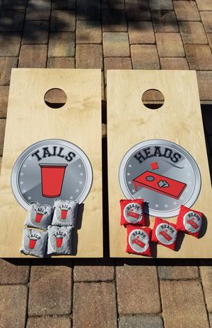 Cornhole lawn game set corn hole for Sale in Cooper City, FL