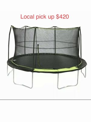 Bounce Pro 14ft Trampoline With Safety Enclosure Net Bundle for Sale in Adrian, WV
