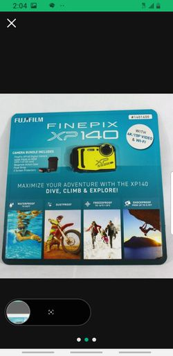 FUJIFILM FinePix XP140 Digital Camera 7 Piece Bundle Brand New Blue or Yellow for Sale in Tustin,  CA