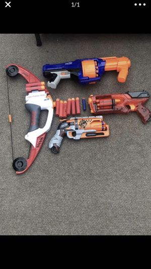 4 Nerf guns for sale!!! for Sale in Everett, WA