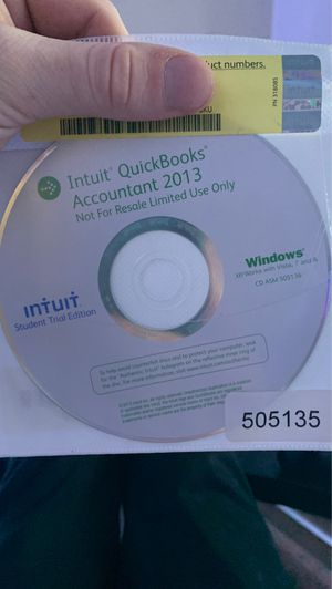 Intuit QuickBooks Accountsnt 2013 for Sale in Cheney, WA