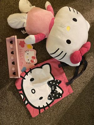 Hello Kitty Canvas Bag, Large Plush, Blanket and Wall Bag/Key Holder for Sale in Orlando, FL