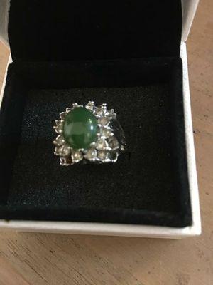 Anillo stainless piedra jade joyerías antigua for Sale in Miami Springs, FL