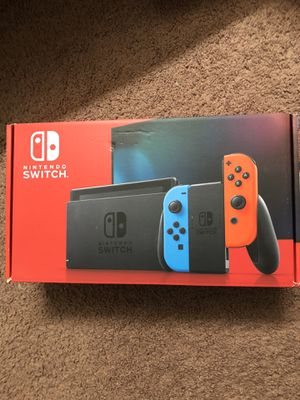 Nintendo Switch Neon Red Blue Joycon V2 for Sale in Alhambra, CA