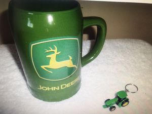 John Deere Mug & Tractor Key Chain for Sale in Philadelphia, PA