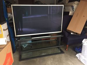 60-in Panasonic 1080p Wide Screen TV + Stand for Sale in Seattle, WA