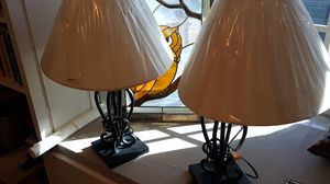 2 wrought iron lamps for Sale in Pembroke Pines, FL