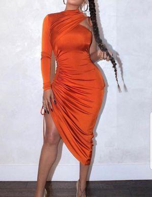 🧡One Shoulder Fold Orange Dress for Sale in Durham, NC
