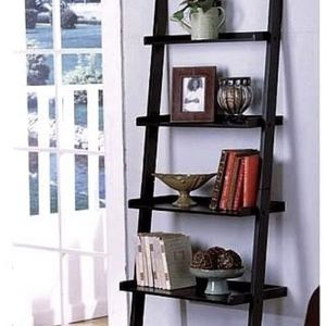 """1 X Unique 72"""" High LEANING LADDER STYLE MAGAZINE / BOOK SHELF on Black Finish for Sale in Quincy, MA"""