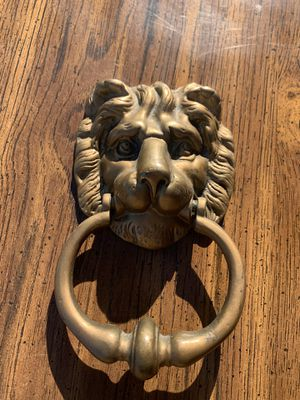 Brass lion head door knocker for Sale in Pasco, WA
