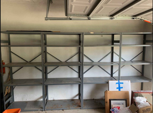 Steel Shelves - 9 Sections Available for Sale in Lathrup Village, MI
