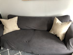 Couch with cover and pillows for Sale in Boston, MA