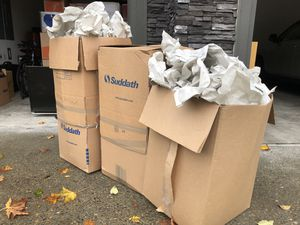 Free - Moving Boxes filled with Packing Paper for Sale in Portland, OR