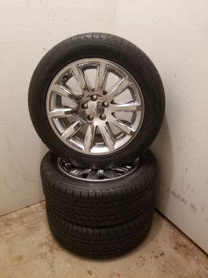 yokohama yk80 235/55 r18 tires and Chrysler rims for Sale in Phoenix, AZ