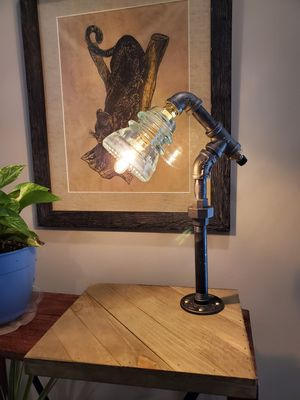Repurposed Vintage Glass Insulator Lamp for Sale in Morrisville, NC