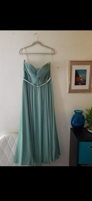 Sage Green Dress - Gown Event Party Wedding Bridesmaid for Sale in Santa Ana, CA