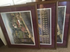 3 Framed art print hangings for Sale in Pasco, WA