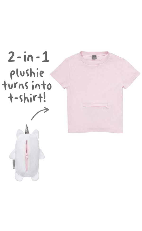 Uki The Unicorn 2 in 1 Transforming Tee T Shirt and Soft Plushie