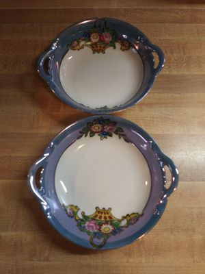Vintage Hand Painted Blue Lustreware Noritake Trinket Dish Set for Sale in Sugar Creek, MO
