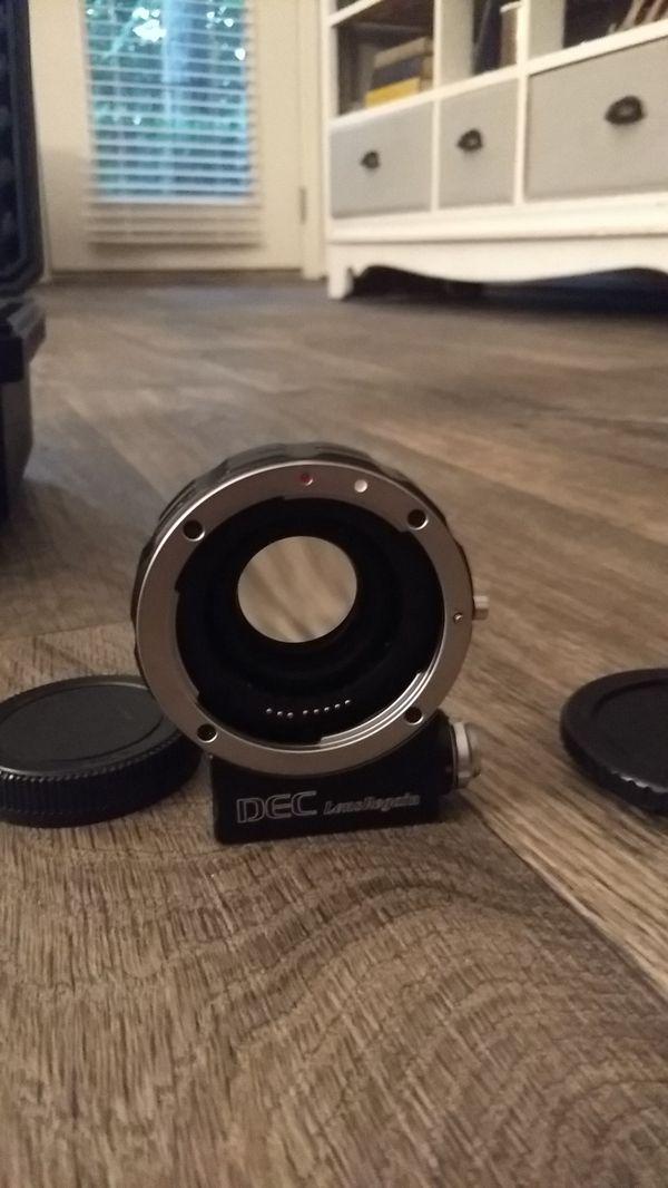 Aputure DEC LensRegain EF to M43 focal reducer, aperture control, and follow focus