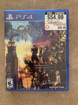 Kingdom Hearts 3 PS4 for Sale in Litchfield Park, AZ