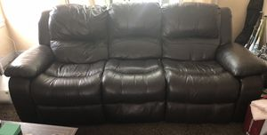 Brown, real leather couch. No peeling. Good condition for Sale in Oakland, CA
